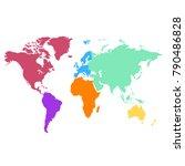 world map. europe asia america... | Shutterstock .eps vector #790486828