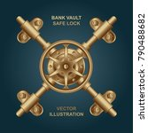 bank vault safe lock... | Shutterstock .eps vector #790488682
