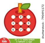counting game for preschool... | Shutterstock .eps vector #790491172