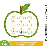 counting game for preschool... | Shutterstock .eps vector #790491175