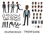 male african american ... | Shutterstock .eps vector #790491646