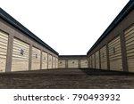 3d illustration of self storage ... | Shutterstock . vector #790493932