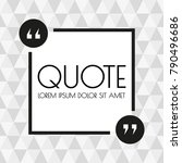 quote box or frame design.... | Shutterstock .eps vector #790496686