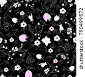 cute floral seamless pattern... | Shutterstock .eps vector #790499572