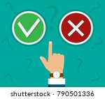 hand  finger pressing buttons... | Shutterstock .eps vector #790501336
