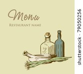 vintage restaurant menu design... | Shutterstock .eps vector #79050256