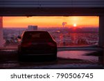 modern luxury car and sunset... | Shutterstock . vector #790506745