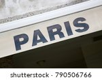 paris sign on white background | Shutterstock . vector #790506766