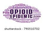 opioid crisis word cloud... | Shutterstock .eps vector #790510702