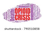 opioid crisis word cloud... | Shutterstock .eps vector #790510858