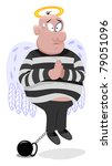 innocent criminal with wings... | Shutterstock .eps vector #79051096