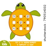 counting game for preschool... | Shutterstock .eps vector #790514032