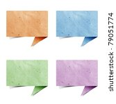 talk origami tag recycled paper ... | Shutterstock . vector #79051774