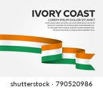 ivory coast flag background | Shutterstock .eps vector #790520986