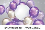 flying pearl and ultra violet... | Shutterstock .eps vector #790522582