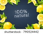 realistic lemon citrus fruits... | Shutterstock .eps vector #790524442