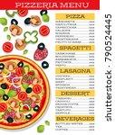 pizzeria restaurant menu... | Shutterstock .eps vector #790524445