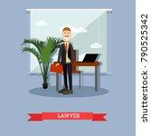 illustration of attorney for... | Shutterstock . vector #790525342