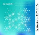 mri diagnostics concept in... | Shutterstock .eps vector #790526206