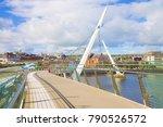 urban skyline of derry city ... | Shutterstock . vector #790526572