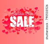 valentines day super sale... | Shutterstock .eps vector #790533526