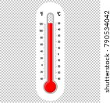 thermometer infographic vector | Shutterstock .eps vector #790534042