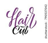 hair studio. logo beauty vector ... | Shutterstock .eps vector #790537042