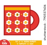 counting game for preschool... | Shutterstock .eps vector #790537606