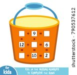 counting game for preschool... | Shutterstock .eps vector #790537612