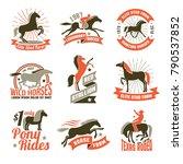 elite stud farms for horses...   Shutterstock .eps vector #790537852