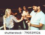 friends having fun | Shutterstock . vector #790539526