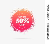 up to 50  off offer label | Shutterstock .eps vector #790541032