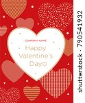greeting card with valentine's... | Shutterstock .eps vector #790541932