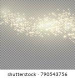 white glowing light burst... | Shutterstock .eps vector #790543756