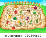 fun educational farming... | Shutterstock .eps vector #790544632