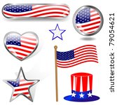 independence day. collection of ... | Shutterstock .eps vector #79054621