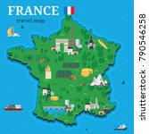 france map for traveler with... | Shutterstock .eps vector #790546258