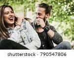happy  couple having fun... | Shutterstock . vector #790547806