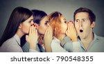 women telling gossip and... | Shutterstock . vector #790548355