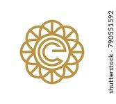 circle  letter e logo design.... | Shutterstock .eps vector #790551592