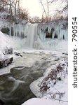 frozen minnehaha falls ... | Shutterstock . vector #790554