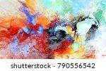 bright artistic splashes.... | Shutterstock . vector #790556542