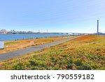view of arakawa river  tokyo | Shutterstock . vector #790559182