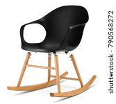 modern rocking chair isolated... | Shutterstock . vector #790568272