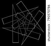 festive geometric set stars and ... | Shutterstock .eps vector #790570786