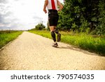 athletic young man running in... | Shutterstock . vector #790574035