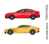 modern passenger cars for... | Shutterstock .eps vector #790574902