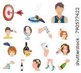 manipulation by hands cartoon...   Shutterstock .eps vector #790577422