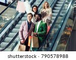 group of multiethnic shoppers... | Shutterstock . vector #790578988