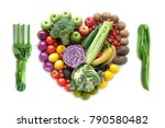 fork and knife made from... | Shutterstock . vector #790580482